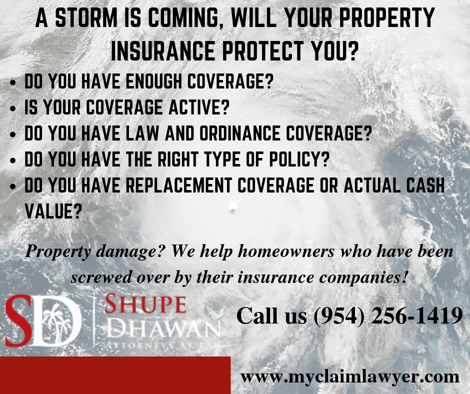 A storm is coming, will your property insurance protect you?